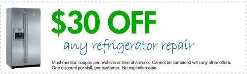 Appliance repair in Jacksonville, FL --$30.00 OFF any refrigerator repair.